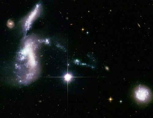 Hickson 31 (Credit: NASA, ESA, and S. Gallagher (The University of Western Ontario), and J. English (University of Manitoba))