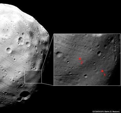Ученые нашли место для посадки на Фобосе