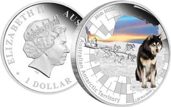 Хаски появились на монетах Австралии