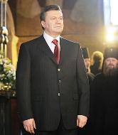 Янукович принял участие в Пасхальном богослужении