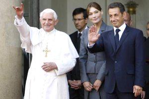 Бенедикт XVI примет президента Франции Николя Саркози
