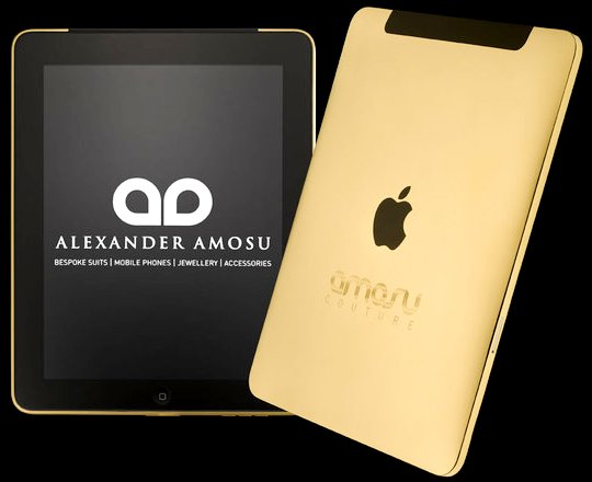 Amosu Couture и Swarovski презентовали золотой IPad