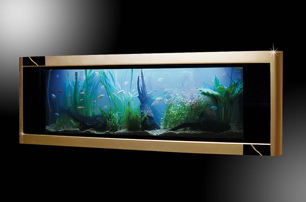 Стюарт Хьюз изготовил золотой аквариум Аквависта