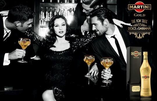 Моника Беллуччи снялась для Martini Gold и Dolce & Gabbana