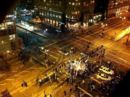 В Сан-Франциско фанаты бейсбола учинили погромы