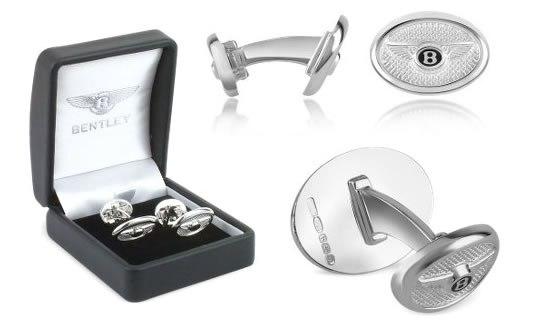 Серебряные запонки Bentley для стильных мужчин
