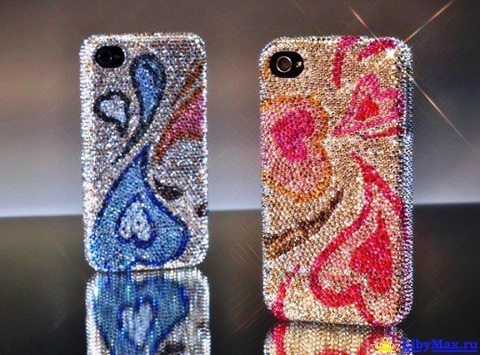 CRYSTOGRAPH iPhone4 Lover's Edition в кристаллах Swarovski