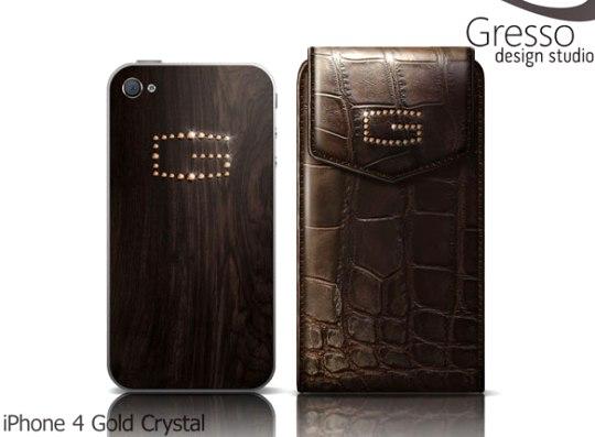 Gresso презентовал роскошный iPhone 4 Gold Crystal