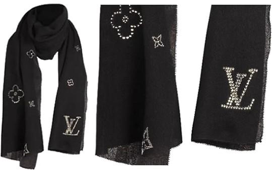 Луи Виттон украсил шарф кристаллами Swarovski