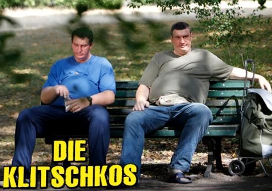 Братья Кличко растолстели для рекламы фитнеса