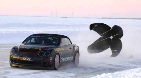 Канккунен на Bentley заехал в книгу Гиннеса по скорости на льду