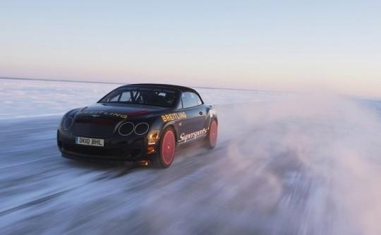 Юха Канккунен на Bentley установил мировой рекорд скорости на льду