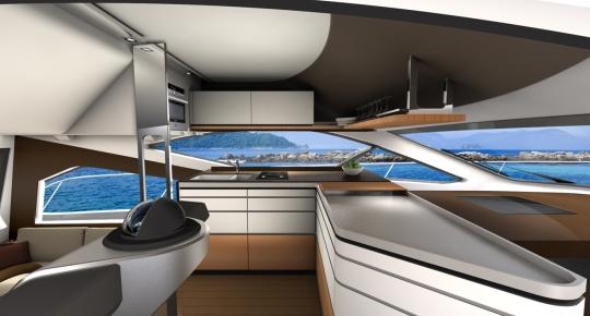 Дизайнеры BMW презентовали яхту Intermarine 55