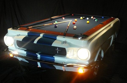Коллекционный бильярдный стол на базе Shelby GT 350 1965 года