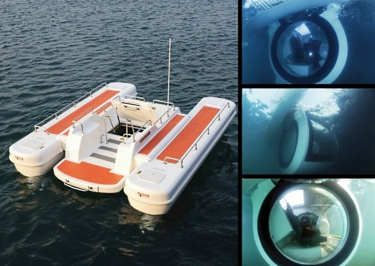 Полуподлодка EGO для роскошного отдыха на воде