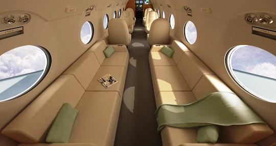 Gulfstream G550 с новым интерьером от Yanko Design