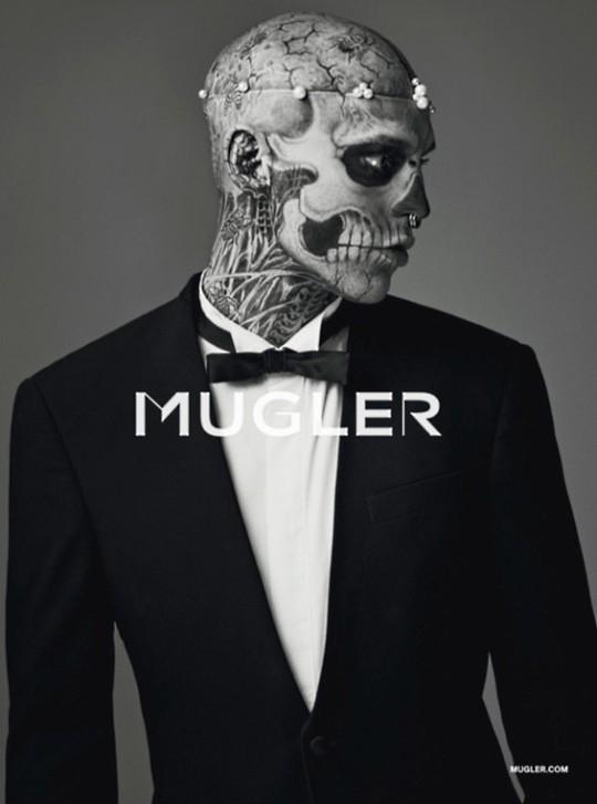 Зомби стал моделью в кампании MUGLER Mens Fall 2011