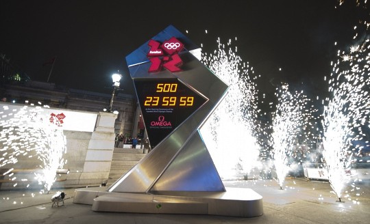 OMEGA начала считать в Лондоне время до Олимпиады-2012