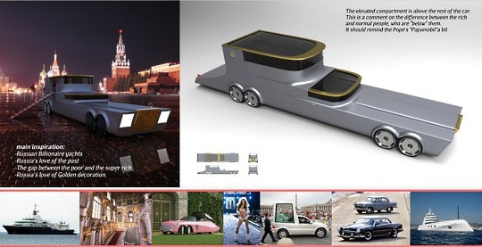Роскошный гибрид Road Yacht для российских миллиардеров