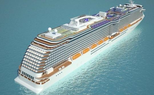 Круизный лайнер Royal Princess поплывет в 2013 году