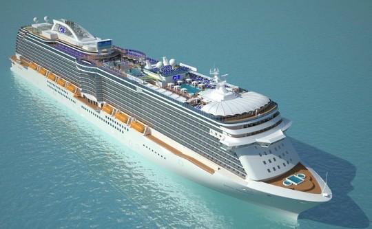 Круизный лайнер royal princess поплывет в 2013