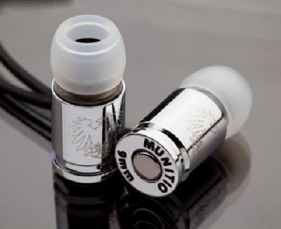 Эксклюзивные титановые наушники-пули от компании Munitio