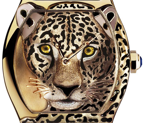 Леопардовые часы Tortue XL от Cartier