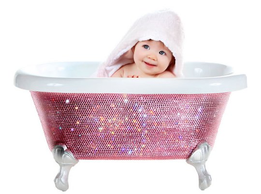 Детская ванна Baby Bathtub в кристаллах Swarovski от Лори Гарднер