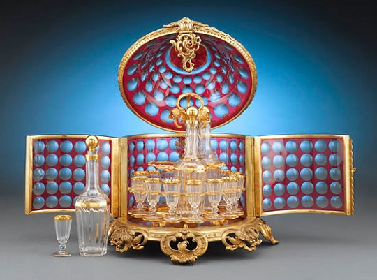 Бронзовый мини-бар времен Наполеона III в стиле Рококо