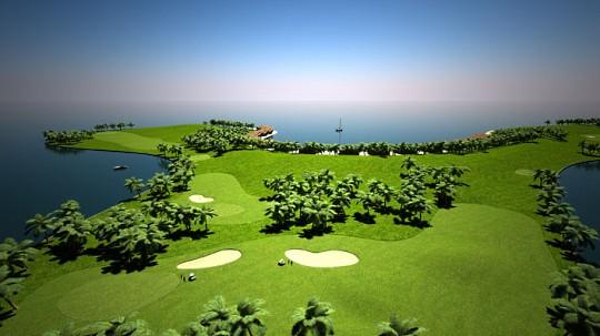 На Мальдивах появится плавающий остров для гольфа