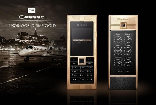 Gresso представила элитный телефон Luxor World Time Gold