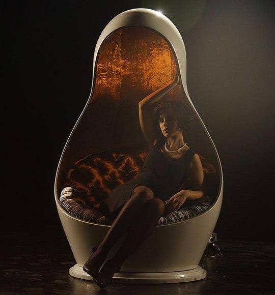 Гламурное кресло Матрешкa Light Chair