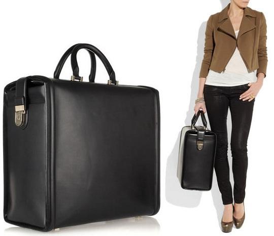 Кожаная дорожная сумка от Виктории Бэкхем