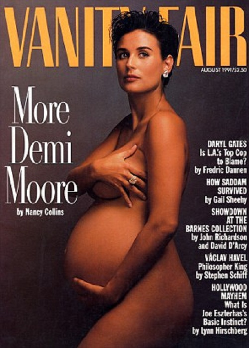 Беременная Мэрайя Кэри снялась для журнала Life&Style