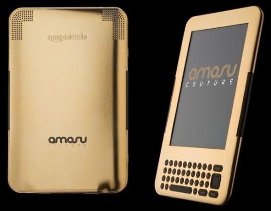 Amosu Couture представил золотой ридер Amazon Gold Kindle