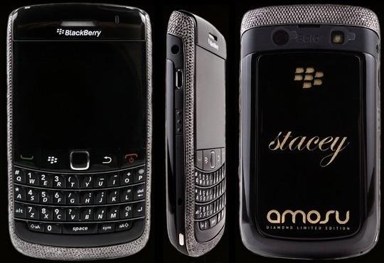 Бриллиантовый Amosu Black Diamond Blackberry из черного золота
