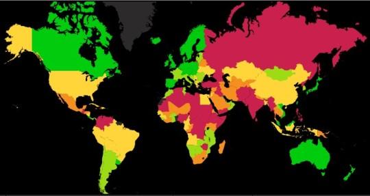 Исландия самая мирная страна на Земле в рейтинге GPI-2011