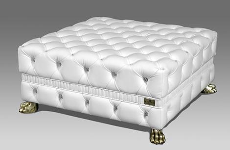 Кожаный пуфик с кристаллами Swarovski от компании  Fiorentino