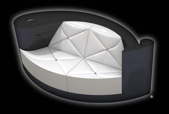 Эксклюзивный кожаный диван за 7 175 от PlumeBlanche