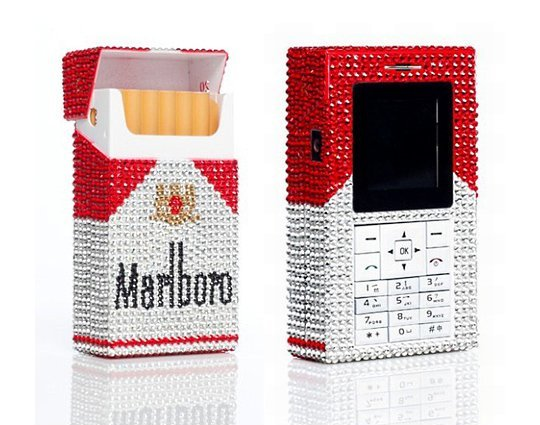Телефон Marlboro в кристаллах Swarovski
