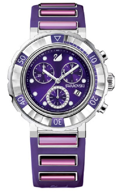 Бренд  Swarovski презентовал свой первый хронограф Octea Chrono Purple