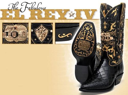 Ковбойские сапоги в золоте и бриллиантах от Тони Лама