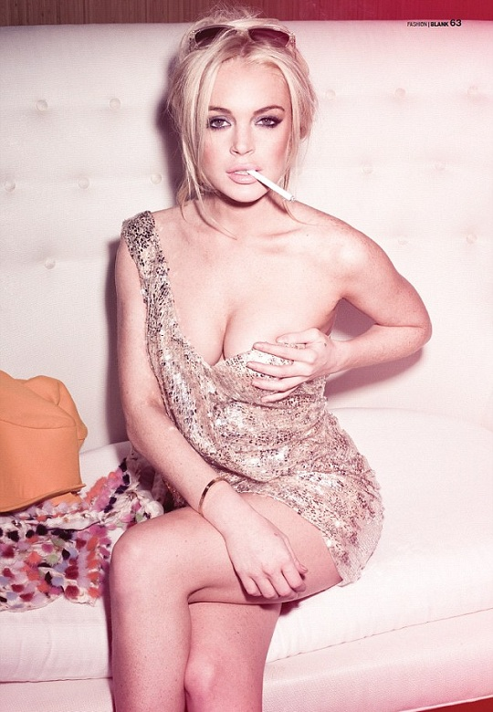 Линдси Лохан снялась для журнала BLANK