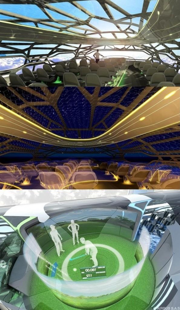 Airbus представил прозрачный самолет 2050 года