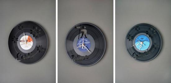Часы из виниловых пластинок от Павла Сидоренко