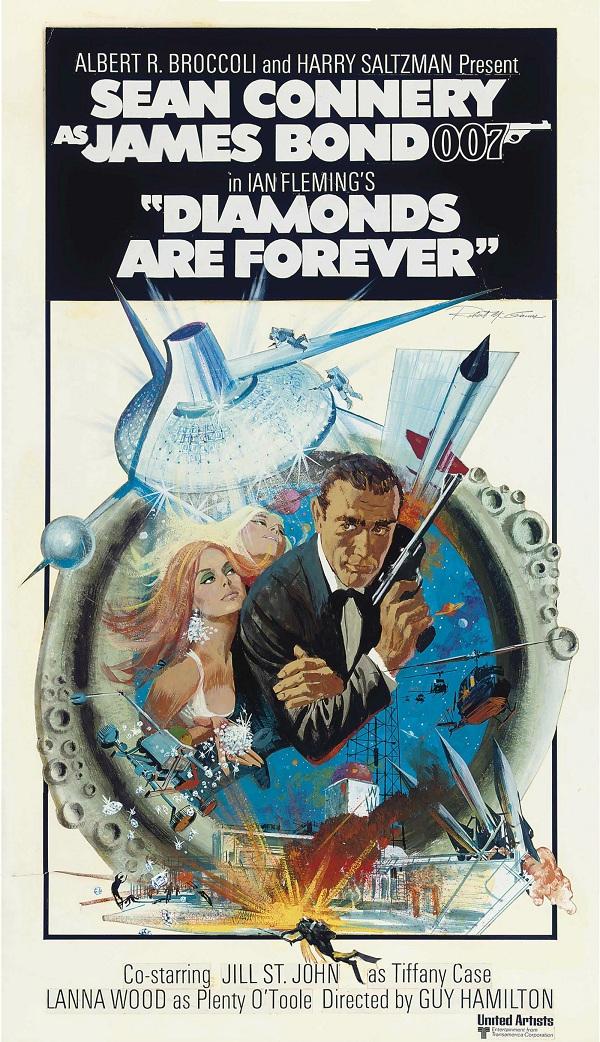Постер к фильму о Джеймсе Бонде 1971 года продан на Кристис за  9 тыс.