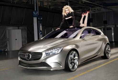 Джессика Стэм снялась для Mercedes-Benz Concept A-Class