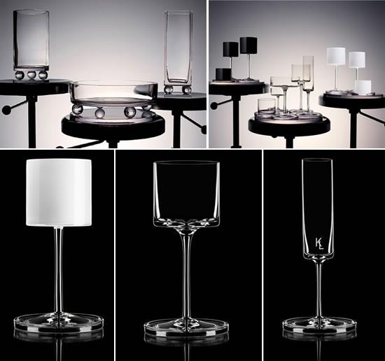 Карл Лагерфельд разработал дизайн бокалов для компании Orrefors
