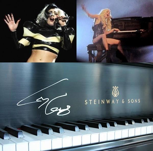 Lady Gaga продала на аукционе фортепиано Steinway
