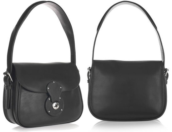Компактная кожаная сумка от Ralph Lauren.